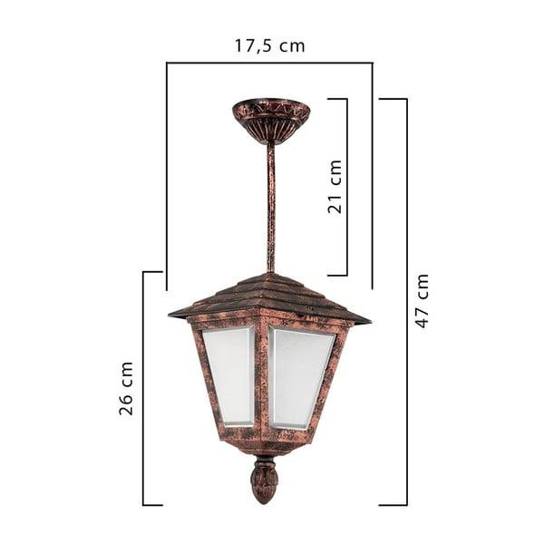 Copper bronzszínű kültéri függőlámpa