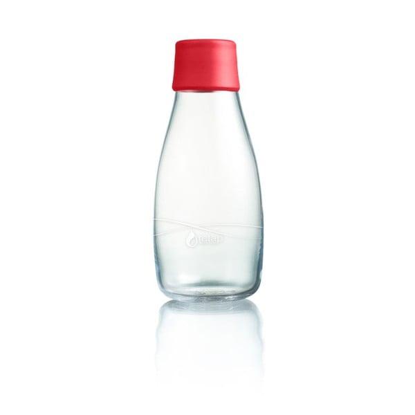 Piros üvegpalack élettartam garanciával, 300ml - ReTap