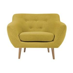 Žluté křeslo se světlými nohami Mazzini Sofas Sicile