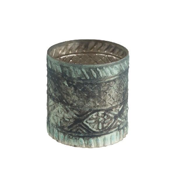 Boho Cylinder üveg gyertyatartó, ⌀ 10 cm - J-Line