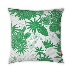 Zeleno-bílý povlak na polštář Vitaus Jungle Verde, 43 x 43 cm